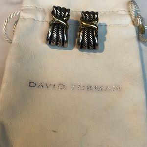 David Yurman Cable Classic Crossover X Earrings
